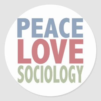 Peace Love Sociology Sticker