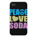 Peace Love Soda Case For iPhone 4