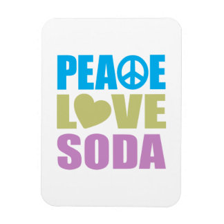 Peace Love Soda Magnet