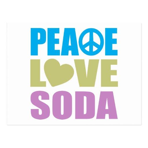 Peace Love Soda Postcards
