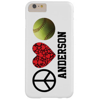 Peace Love Softball Barely There iPhone 6 Plus Case