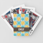 Peace Love Softball Bicycle Playing Cards