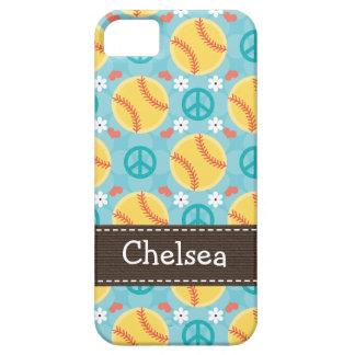 Peace Love Softball iPhone 5 Case