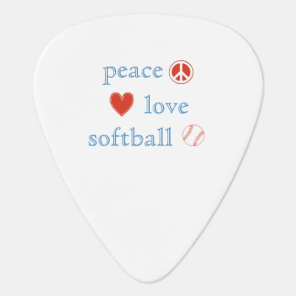 Peace Love Softball Guitar Pick