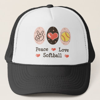 Peace Love Softball Hat