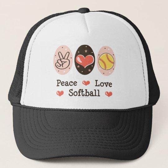 Peace Love Softball Hat