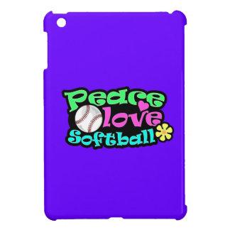 Peace, Love, Softball Case For The iPad Mini