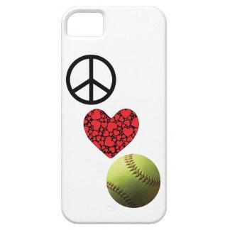 Peace Love Softball iPhone SE/5/5s Case