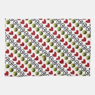 Peace Love Softball Kitchen Towel