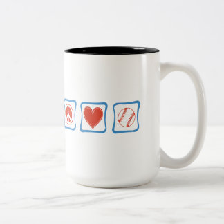 Peace Love Softball Squares Mug