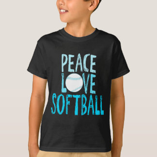 Peace, Love, Softball T-Shirt