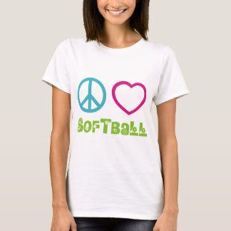 Peace Love Softball T-Shirt