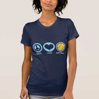 Peace Love Softball Tee Shirts