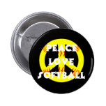 Peace, Love, Softball with peace sign 2 Inch Round Button
