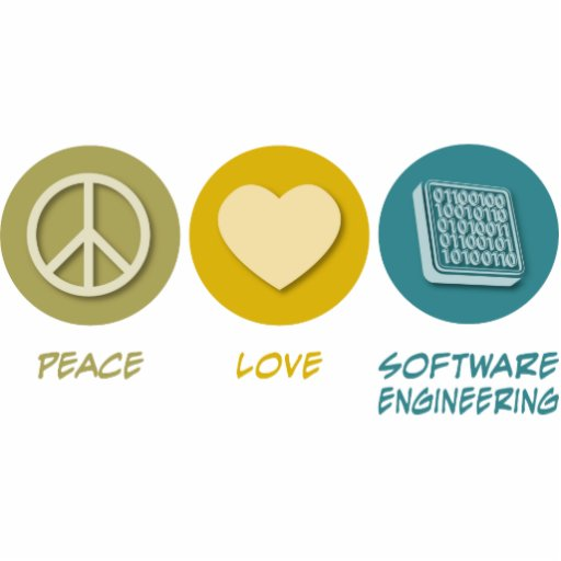 Peace Love Software Engineering Acrylic Cut Outs