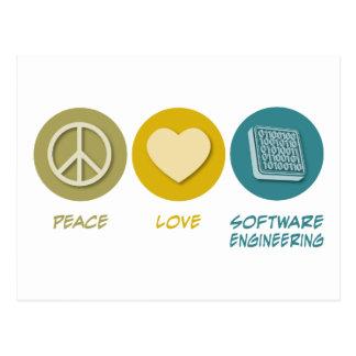 Peace Love Software Engineering Postcard