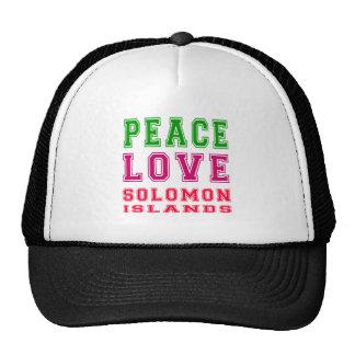 Peace Love Solomon Islands Hat