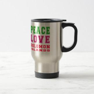 Peace Love Solomon Islands Coffee Mugs