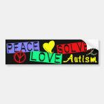 Peace Love Solve Autism Car Bumper Sticker