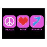 Peace Love Somalia Greeting Card