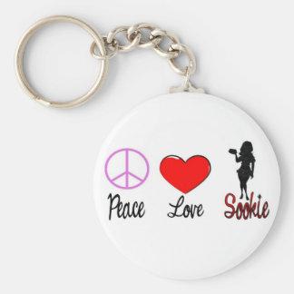 peace love sookie basic round button keychain