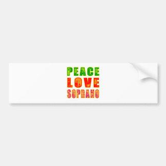 Peace Love Soprano Bumper Sticker