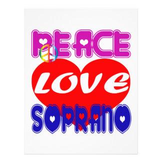 Peace Love Soprano Letterhead Template