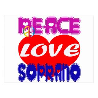 Peace Love Soprano Post Card