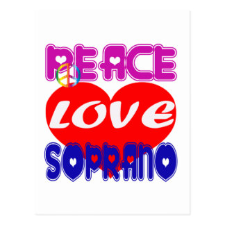 Peace Love Soprano Postcard