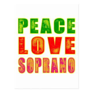 Peace Love Soprano Post Cards