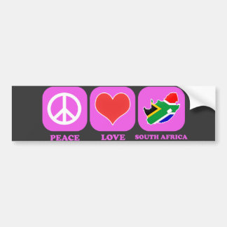 Peace Love South Africa Bumper Stickers