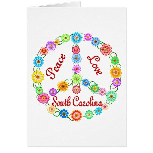 Peace Love South Carolina Greeting Card