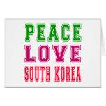 Peace Love South Korea Card