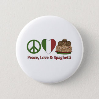 Peace, Love & Spaghetti Button