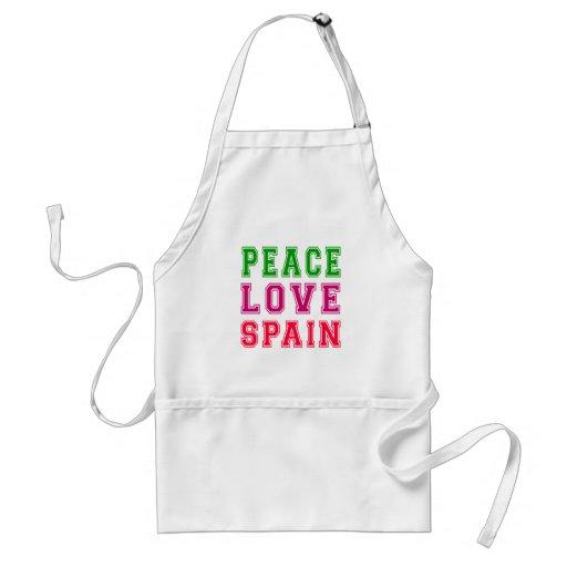 Peace Love Spain Aprons