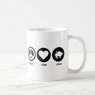 Peace Love Spain Coffee Mug