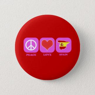 Peace Love Spain Pinback Button
