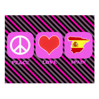 Peace Love Spain Postcard