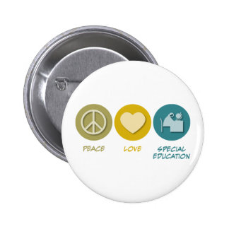 Peace Love Special Education 2 Inch Round Button