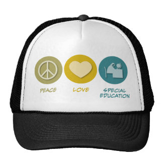 Peace Love Special Education Trucker Hat