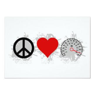 Peace Love Speed  Emblem 3 Card