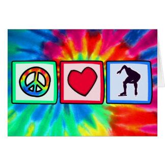 Peace, Love, Speed Skating Card