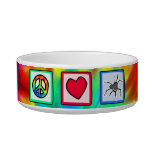 Peace, Love, Spiders Cat Food Bowl