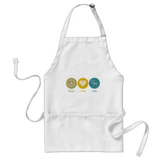 Peace Love Spin Adult Apron