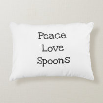 Peace, Love, Spoons pillow