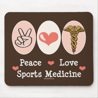 Peace Love Sports Medicine Mousepad