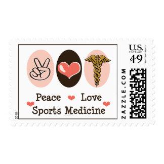 Peace Love Sports Medicine Postage Stamps