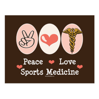 Peace Love Sports Medicine Postcard