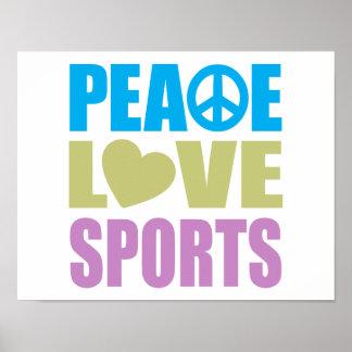 Peace Love Sports Print