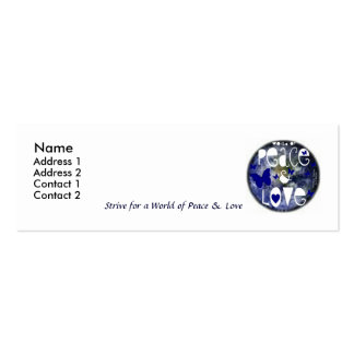 Peace & Love - Spread the Word - Profile Card Double-Sided Mini Business Cards (Pack Of 20)